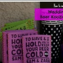 Wedding Beer Koozies
