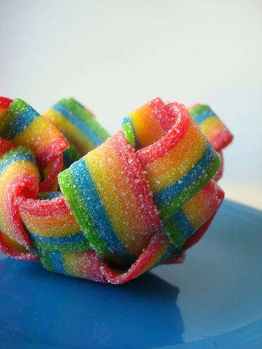 Picture of How to Make Rainbow Candy Dessert Bowls