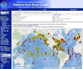 National Data Buoy Center Weather Display