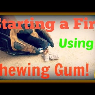 How to Make a Fire With a Gum Wrapper and a Battery