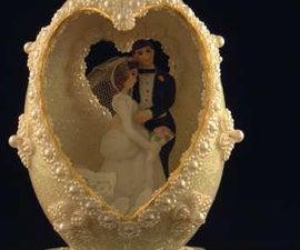 Wedding Cake Egg Topper