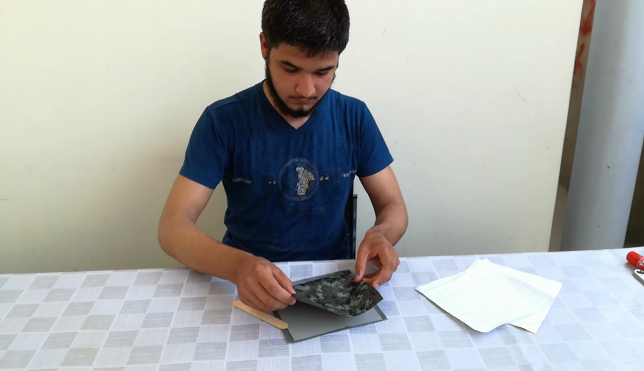 Picture of Preparing the Metal Plate