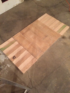 Red Oak and Poplar Laid Out. Unsanded