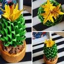 3D Cactus Origami DIY