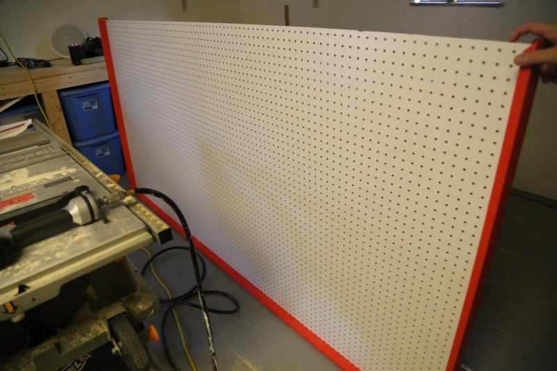Picture of STEP 3: ADD YOUR PEGBOARD + TOP PIECE