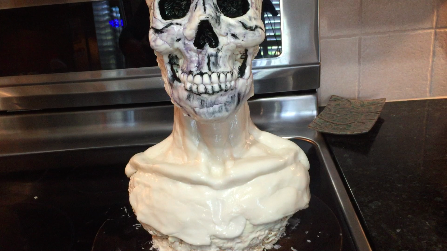 Picture of Carefully Place the Skull Onto the Bust