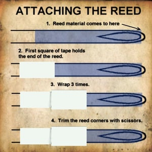 Attaching the Reed Material to the Syringe
