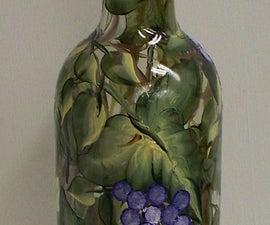 Turning a Wine Bottle into an Oil Bottle