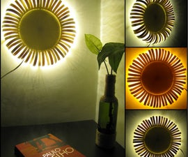 Sunflower Wall Sconce Made of Popsicle Sticks