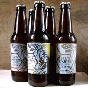 Block Printed Beer Labels
