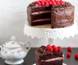Ultimate Red Wine Chocolate Raspberry Cake