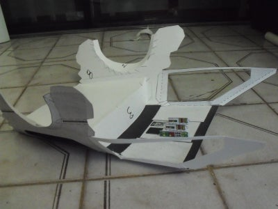 Paper Flying RC Back to the Future Delorean (made of Paper)