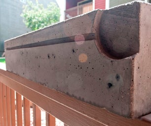 Modern Concrete Planter Box
