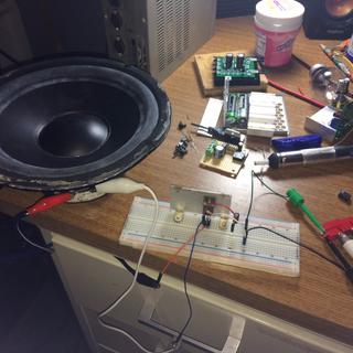 Simple Audio Amplifier Using Single Transistor