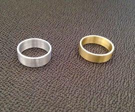 Custom Aluminum and Brass Rings