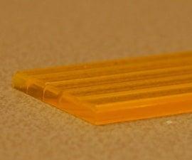 Chamfer on acryllic lasercut parts