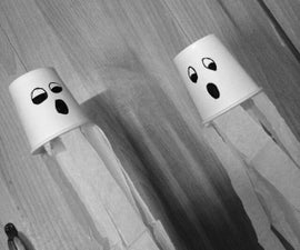 Paper Cup Ghosts - Wall Hangings