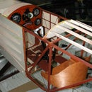 Sopwith Pup Instrument panel and  Le Rhone WW1 engine (dummy engine for 1/3 scale Sopwith pup)