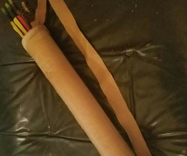 Homemade Leather Quiver