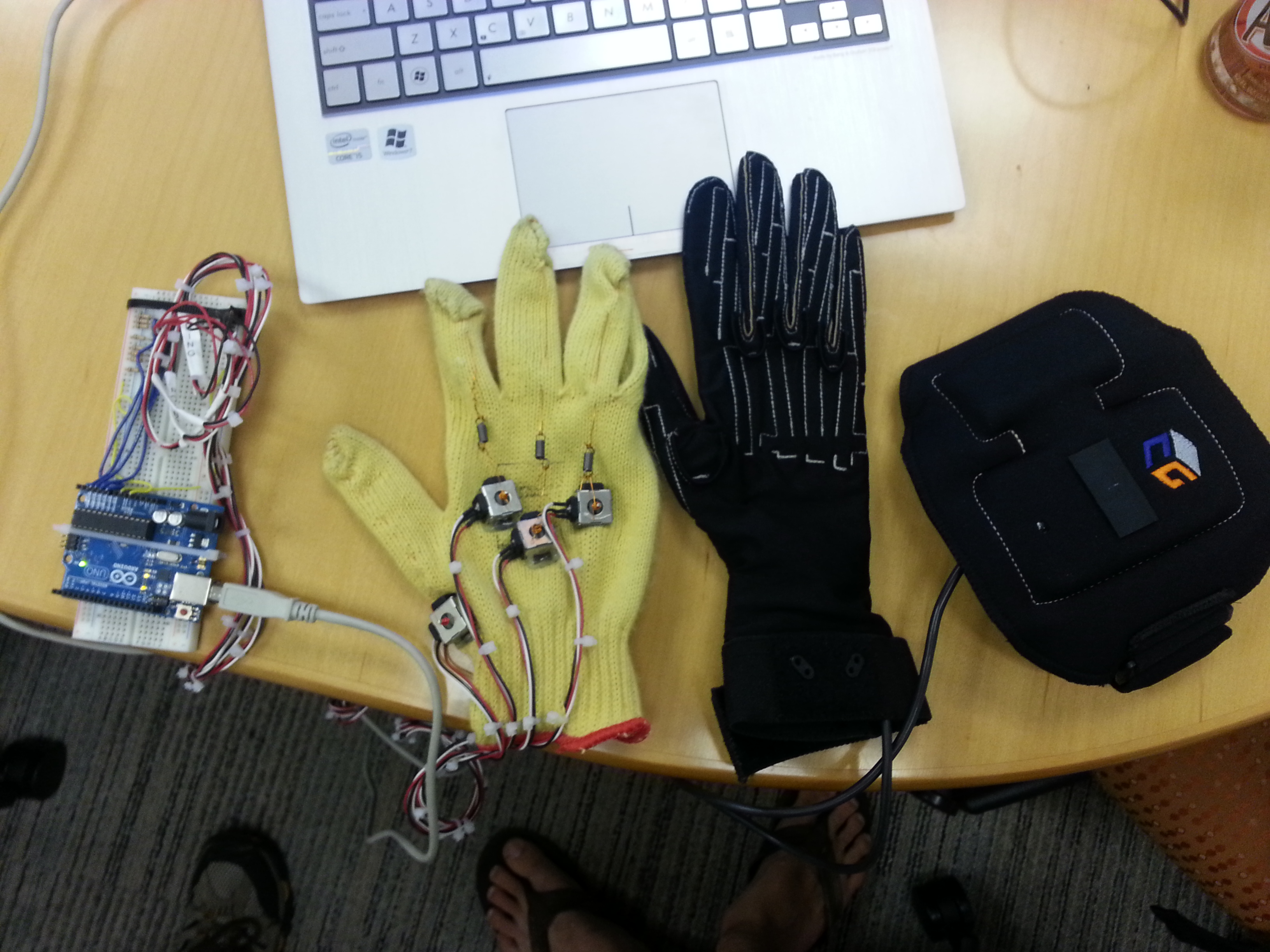 Picture of Build a $30k CyberGlove for $40 - Submitted by BayLab for the Instructables Sponsorship Program