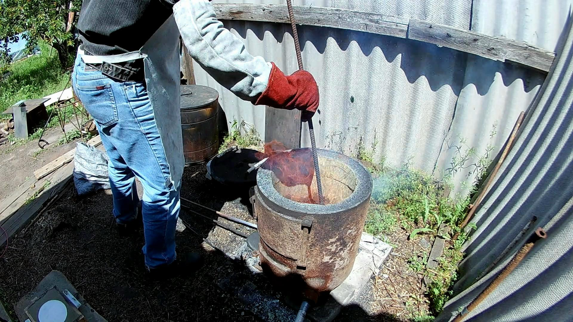 Picture of Loading a Crucible