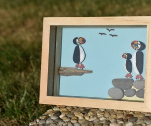 Holiday Beach Pebble Art