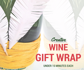9 Wine Gift Wrap Ideas – in 15 Minutes