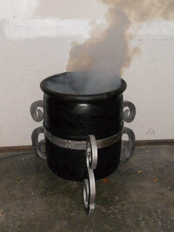 Halloween Cauldron From a 55 Gallon Plastic Barrel