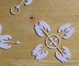 3D printed Window Snowflake, Christmas Ornament