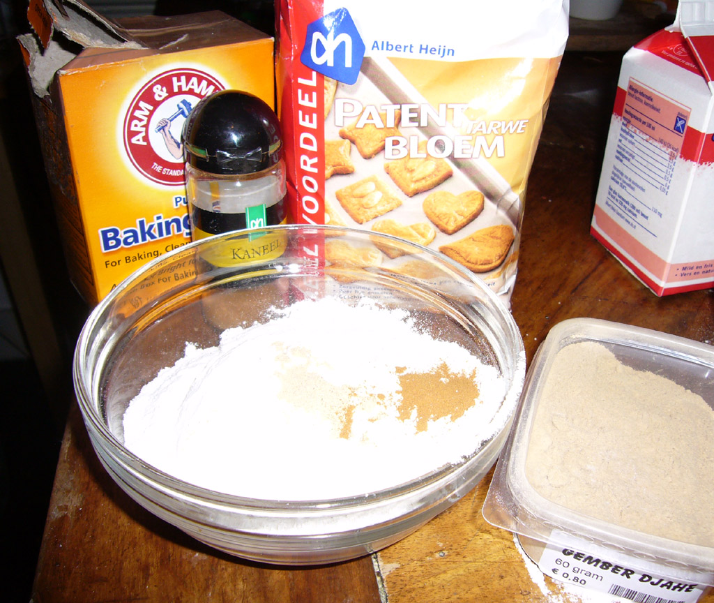 Picture of Mixture #2: Flour, Baking Soda, Ginger, and Cinnamon