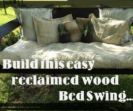 Project Snooze: HOW TO BUILD AN EASY BED SWING USING RECLAIMED WOOD.