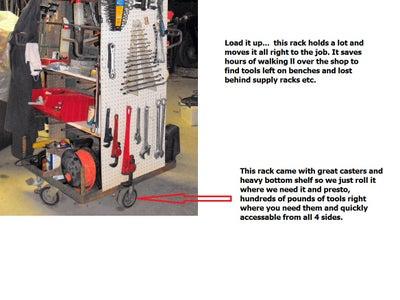 Make a Rolling Tool Rack