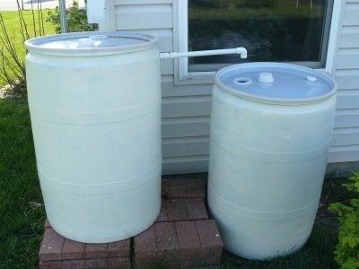 Tandem Rain Barrels