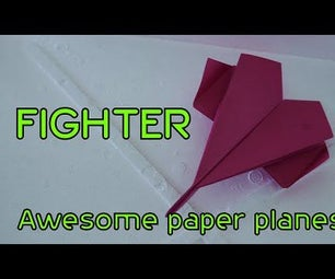 Awesome Origami Paper Plane: Fighter( Paper Plane That Flies)
