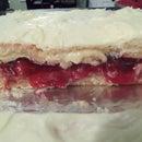 Cherry Pie inside a white cake