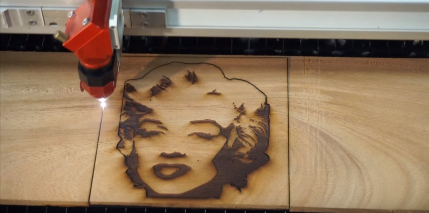 Picture of Engraving and Cutting the Wood