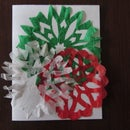 Tissue Paper Snowflake Cards