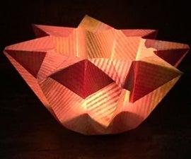Perfumed Origami star lamp