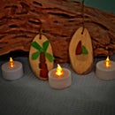 Sea Glass Drift Wood Ornaments