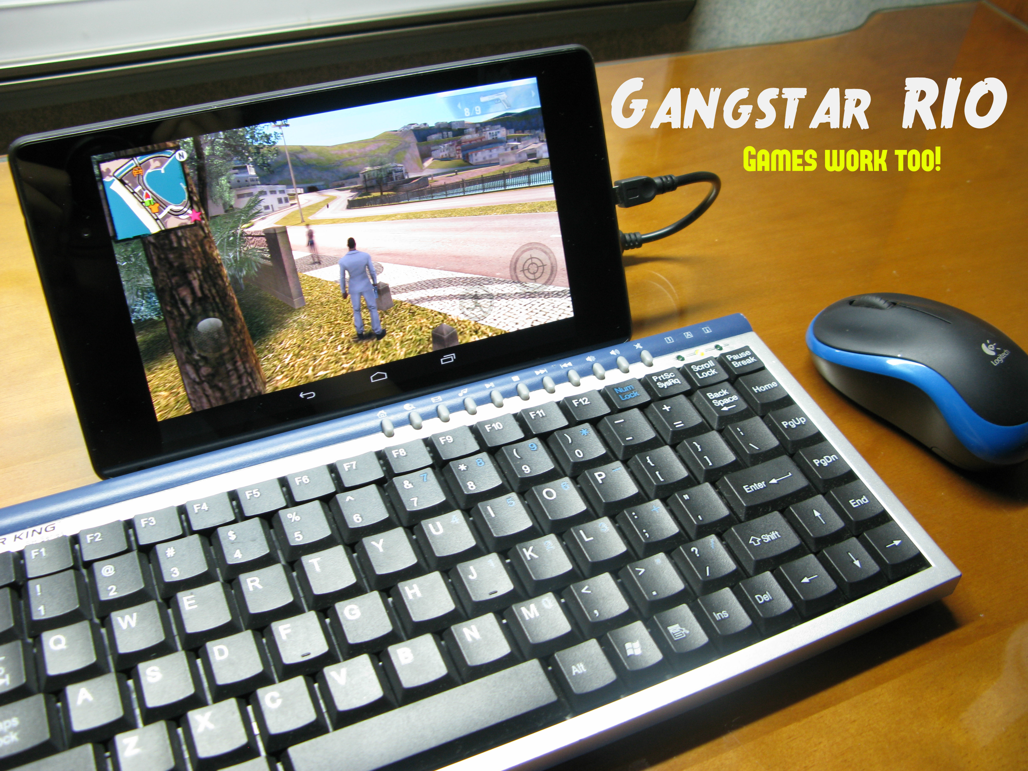 Picture of Keyboard & Mouse for Tablets (Nexus 7)