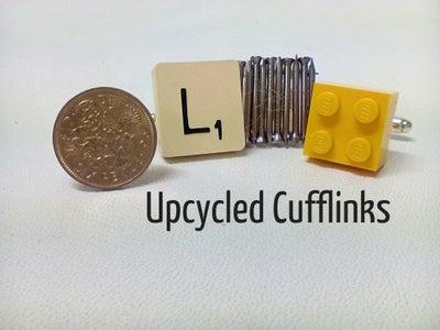 Cufflinks From Found Items