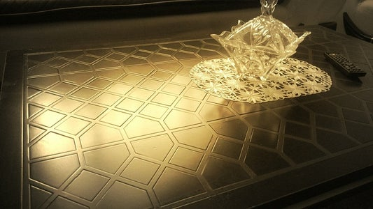 Surface of a Table With Islamic Design Patterns