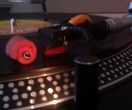 Dust-cleaning Attachment for Vinyl Turntables