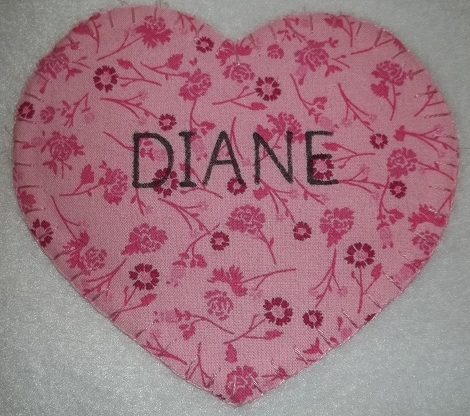 Picture of Adding the Hearts to the Blanket