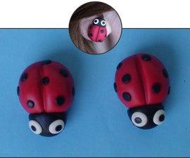 Ladybug Earrings (Polymer Clay)