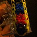 Starburst Rubber Band-Rainbow Loom Bracelet