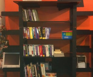 Build a Bookshelf From an Old Server Rack and Scrap Lumber.