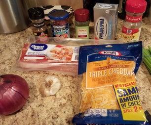 Onion Bacon Cheeseball