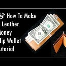 How to Make a Leather Money Clip Wallet