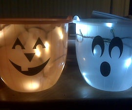 Glowing Halloween trick or treat candy bag